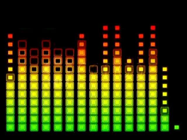酒吧夜店音符跳动LED舞台背景视频素材