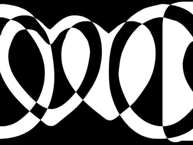 动感黑白五角星元素动感混合酒吧VJ视频素材
