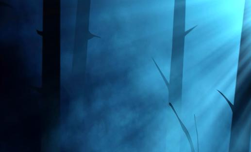 夜晚树林光效LED舞台背景视频素材