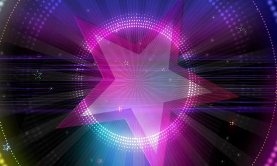 动感五星节奏背景LED舞台背景视频素材