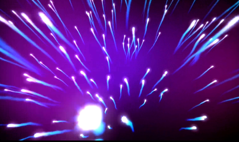 紫色粒子飞跃酒吧VJ视频素材