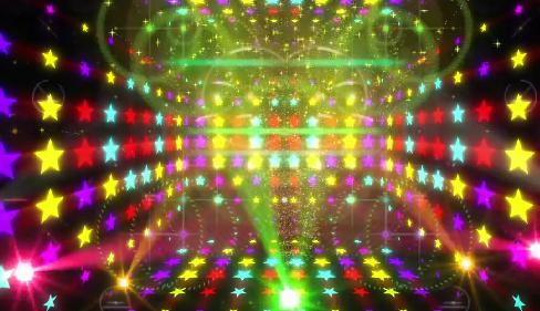 唯美动感舞台灯光五角星LED舞台背景视频素材