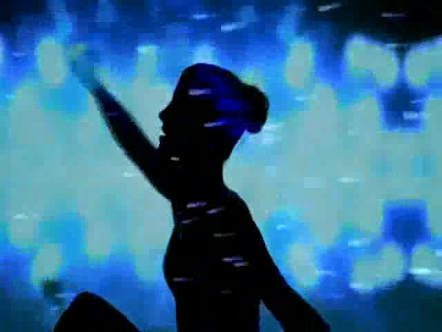 酒吧vj 星空女舞动 视频素材