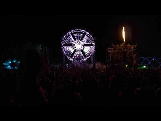 酒吧vj 露天狂舞现场举手 视频素材