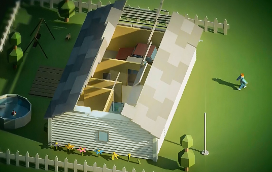 3D卡通房子视频素材