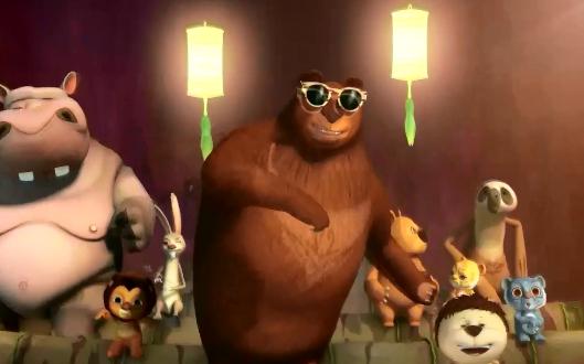 江南大熊版LED舞台背景视频素材