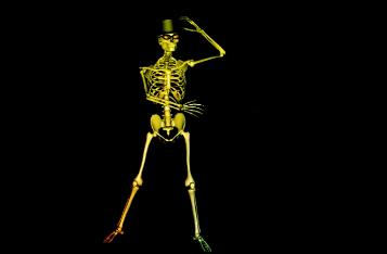 舞动骷髅跳舞酒吧VJ舞台背景视频素材