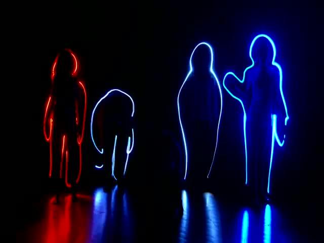 酒吧vj 人物3D动感节奏幻影 视频素材