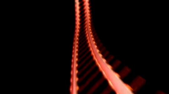延伸的火车道轨视频素材