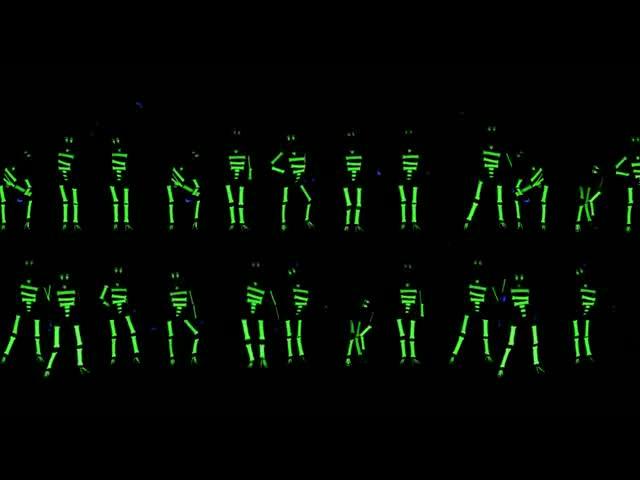 酒吧vj 荧光小人舞蹈 视频素材