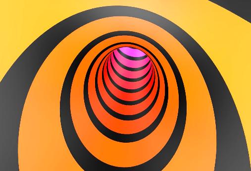 3D彩色漩涡视频素材