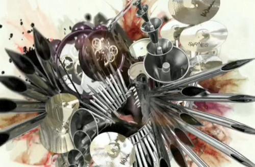 3D卡通音乐视觉冲击视频素材