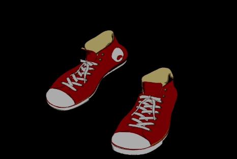 动画卡通一双鞋走路视频素材