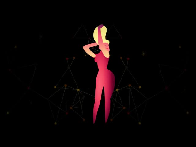 酒吧vj 循环卡通摇头美女 视频素材