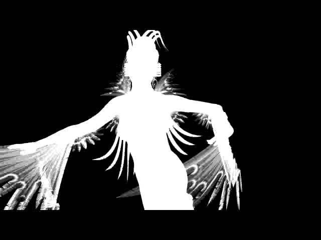 酒吧vj 黑白光影鸟人 视频素材