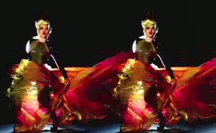 酒吧VJ 唯美女性火焰舞蹈 视频素材