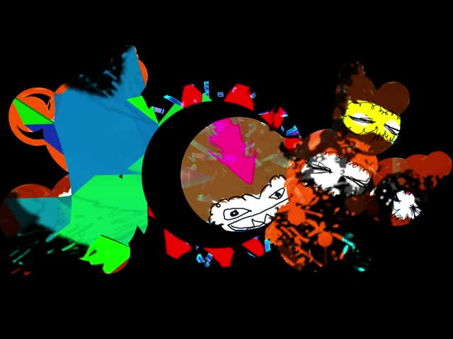 抽象卡通酒吧VJ视频素材