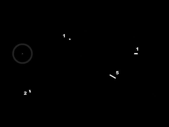 黑白数字几何LED舞台背景视频素材