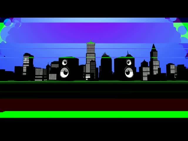 3D喇叭动画视频素材