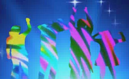 酒吧VJ 跳舞人物灯光背景 视频素材