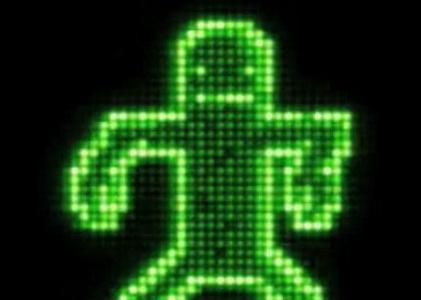 酒吧VJ 电子人跳舞 视频素材