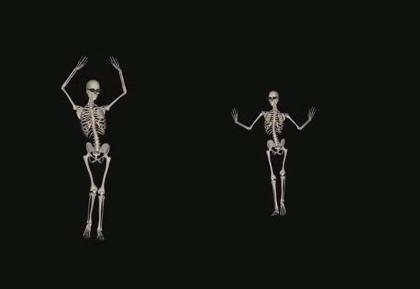 酒吧VJ 性感骷髅舞蹈 视频素材