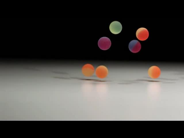 3D珠落下跳起视频素材
