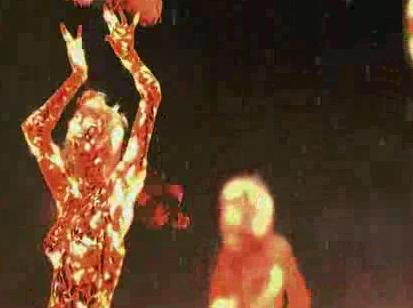 酒吧vj 火女舞蹈 视频素材