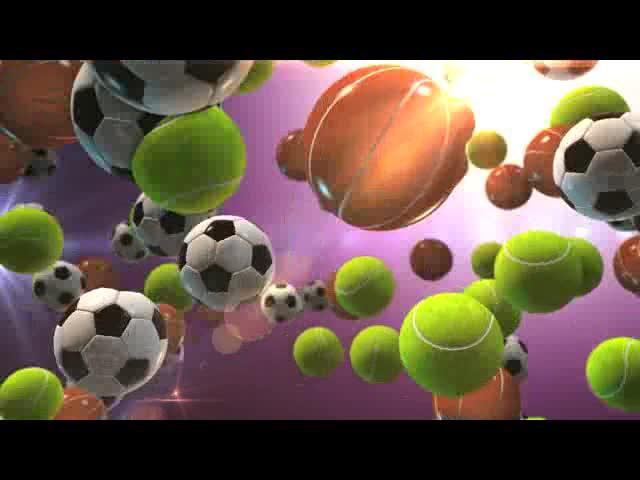 3D卡通足球篮球视频素材