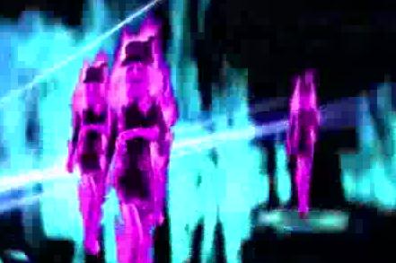 酒吧vj 粉火女舞蹈 视频素材