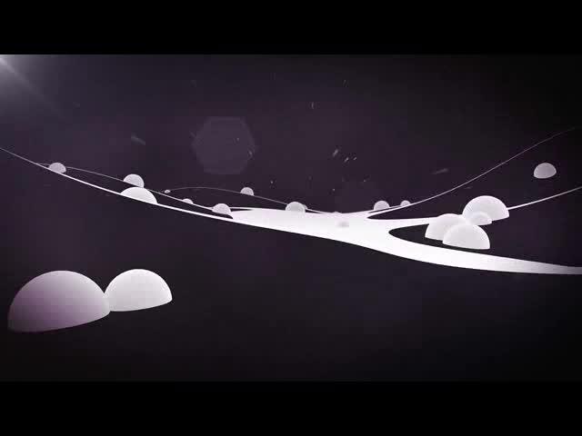 球体粒子三维穿梭视频素材