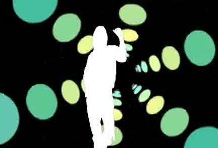 酒吧vj 动感剪影女舞蹈 视频素材