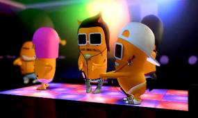卡通动漫小可爱跳舞蹈视频素材