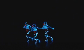 酒吧vj 炫酷荧光舞蹈 视频素材