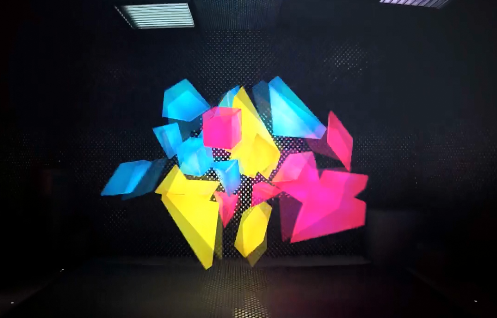 3D卡通立方体跳动视频素材