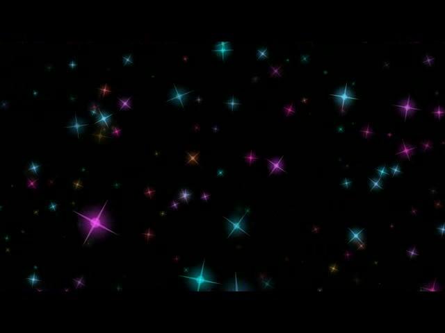 唯美夜空星星视频素材