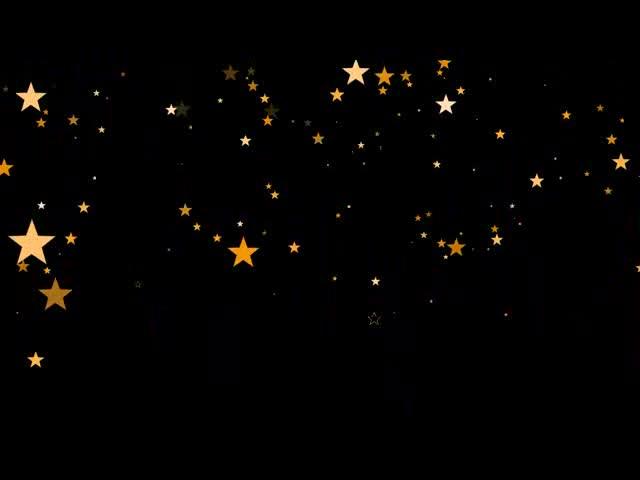 抒情唯美五角星粒子视频素材