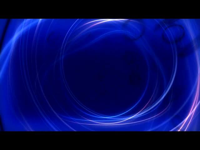 动感蓝色圆圈线条视频素材