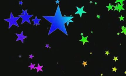 酒吧vj  动态七彩变色五角星 视频素材