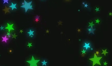 酒吧vj 五角星粒子 视频素材