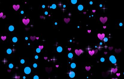 彩色心形爱心浪漫唯美抒情视频素材
