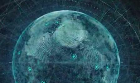 酒吧vj 蓝色粒子地球 视频素材