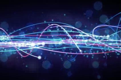 酒吧vj  波浪线粒子 视频素材