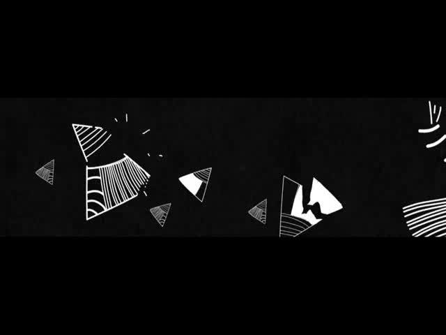 酒吧vj 前场三角线条黑白 视频素材