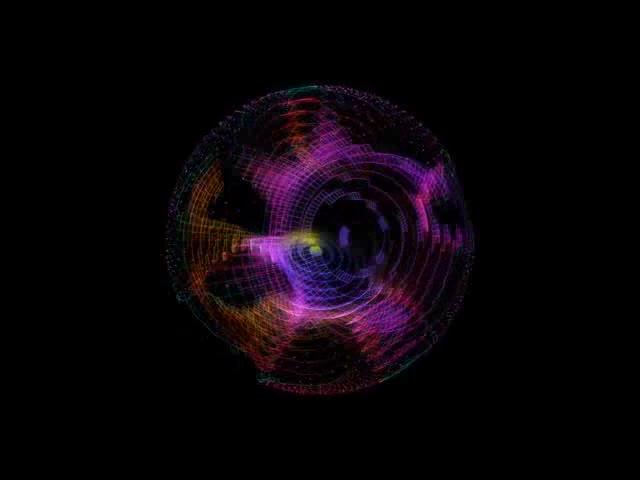 酒吧vj 光效粒子球 视频素材