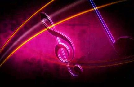 酒吧vj 线条音符 视频素材