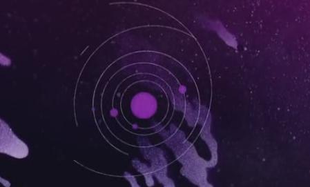 酒吧vj 复古星系图案 视频素材