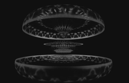 酒吧vj 黑白圆圈虚幻线条 视频素材