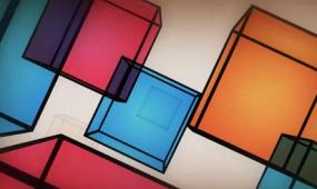 酒吧vj 立方体旋转 视频素材