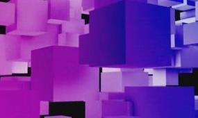 酒吧vj 紫色正方体 视频素材